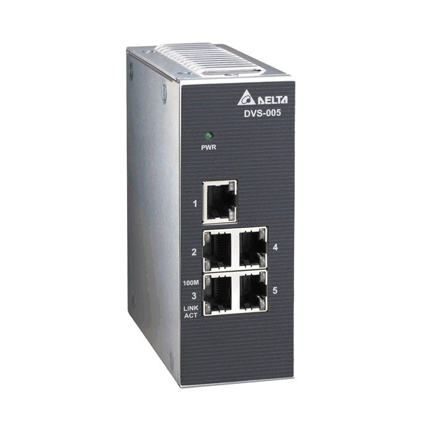 Delta Industrial Network Switch 5 Port Ronin Controls